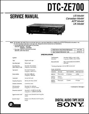 Service Manual: DTC-ZE700.PDF