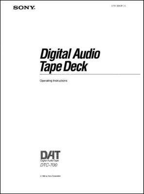 User Manual: DTC-700.PDF