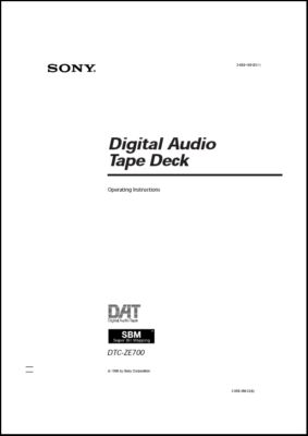User Manual: DTC-ZE700.PDF