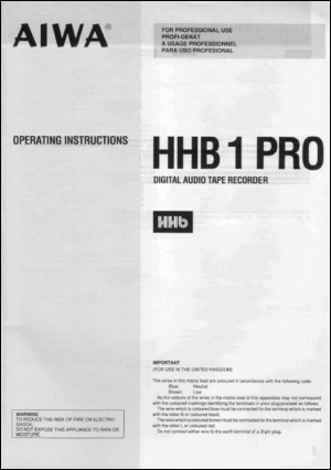 User Manual: HHB-1 PRO.PDF