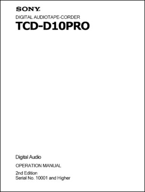 User Manual: TCD-D10PRO.PDF