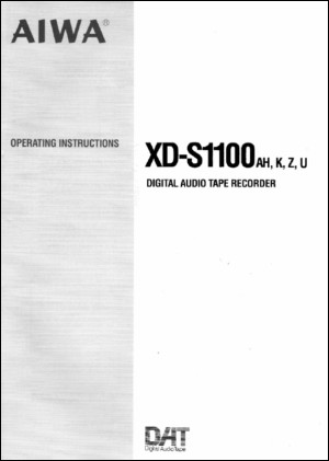 User Manual: XD-S1100.PDF